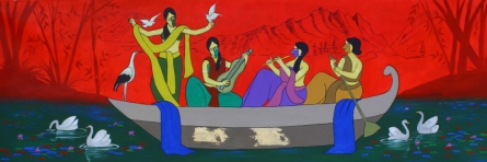 contemporary Acrylic Art Painting title Beauteous by artist Chetan Katigar