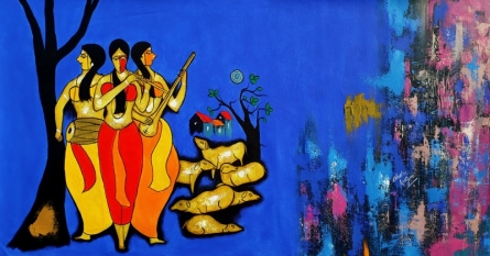 Friends | Painting by artist Chetan Katigar | acrylic | Canvas