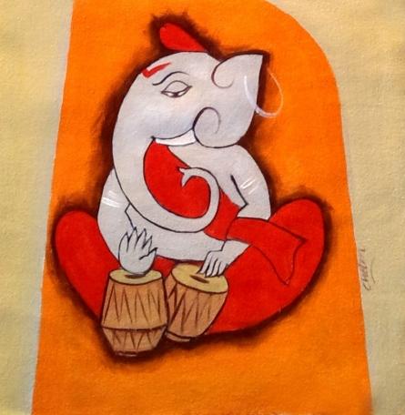 Ganesha 5 | Painting by artist Chetan Katigar | oil | Canvas