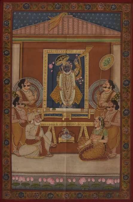 Pichwai Paintings | Tribal Painting - Pichwai by artist Pichwai | ArtZolo.com