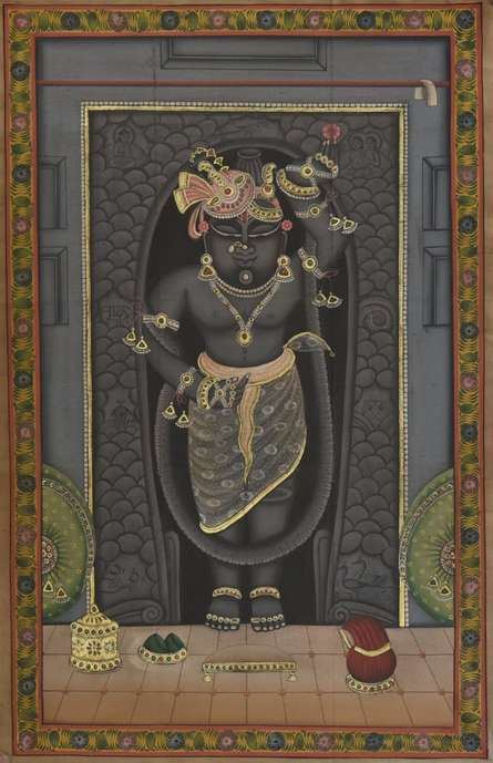 Religious Tribal Art Painting title Pichwai by artist Pichwai