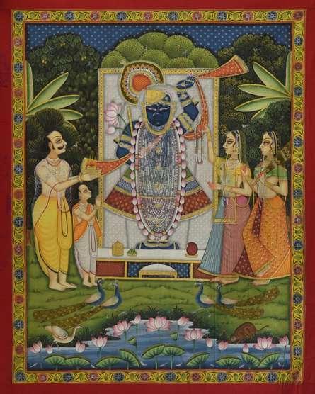 Sreenathji Shringaar - Pichwai Art | Painting by artist Artisan | other | Cloth