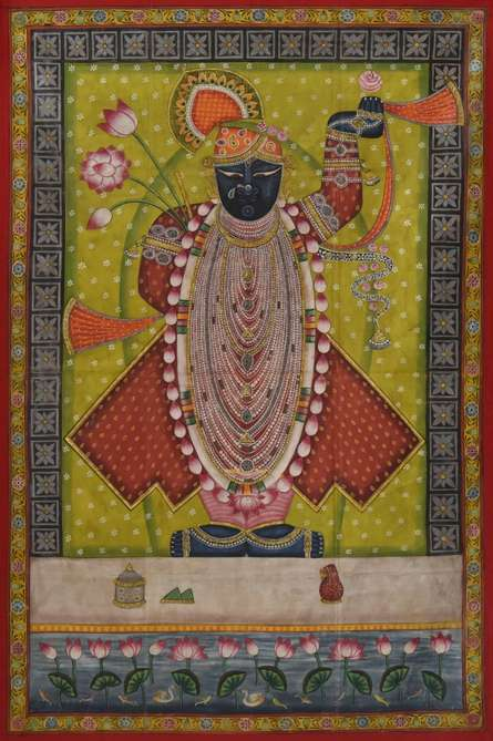 Srinathji - Pichwai Art   Painting by artist Artisan   other   Cloth