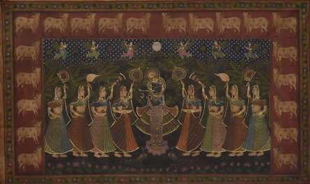 Religious Tribal Art Painting title Pichwai by artist Unknown