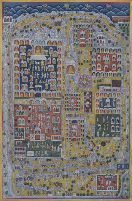 Pichwai Art | Pichwai Traditional art title Pichwai on Cotton Cloth | Artist Pichwai Art Gallery | ArtZolo.com