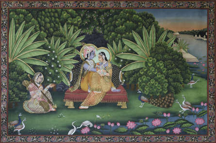 Pichwai Paintings | Traditional art title Pichwai on Cotton Cloth | Artist Pichwai Art