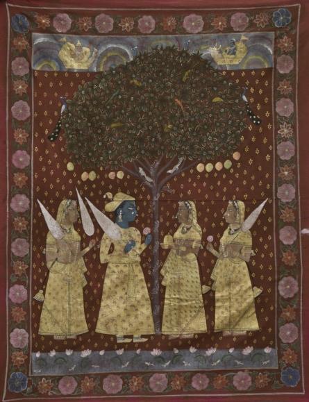 Pichwai | Tribal Painting title Pichwai on Cotton Cloth | Artist Pichwai Gallery | ArtZolo.com