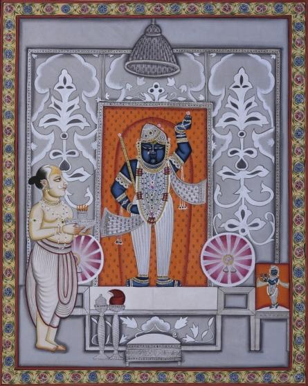 Pichwai Art | Pichwai Traditional art title Pichwai 20 on Cotton Cloth | Artist Pichwai Art Gallery | ArtZolo.com