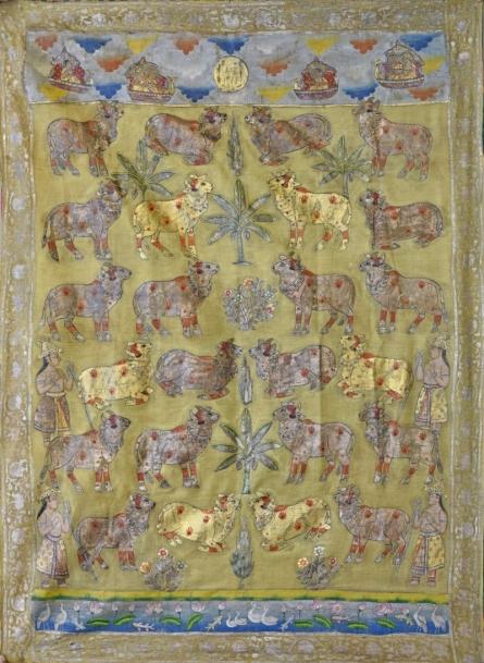 art, traditional, pichwai, cotton cloth, religious