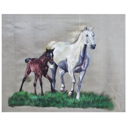 HORSE | Painting by artist Indian Miniture | watercolor | Others