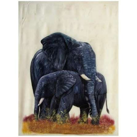 Animals Watercolor Art Painting title ELEPHANT by artist Indian Miniture