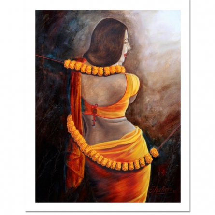 Figurative Oil Art Painting title UNTITLE by artist SHAHEEN VERMA