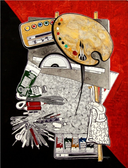Figurative Acrylic Art Painting title UNTITLE by artist SHISHIR BHATT