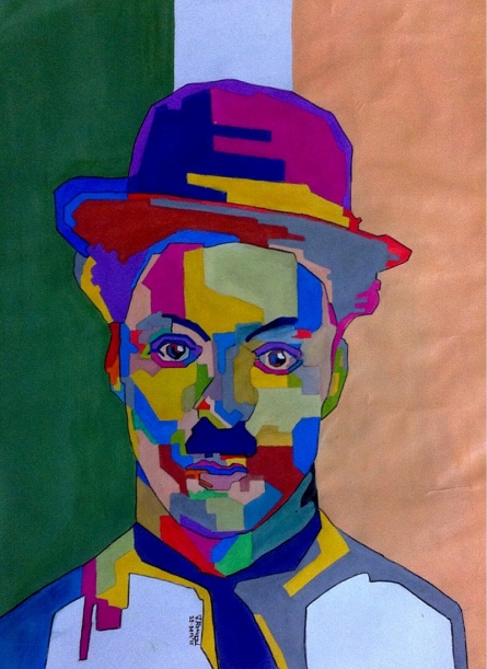 Charlie Chaplin | Painting by artist Jay Ramani | acrylic | Paper