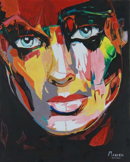 Window to the Soul | Painting by artist Maheen Mathew | oil | Canvas Board