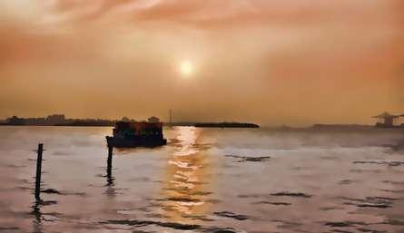 Abstract Sunset   Digital_art by artist ANIL KUMAR K   Art print on Canvas