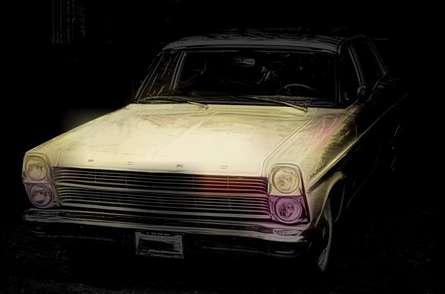 Ford Fairlane | Digital_art by artist ANIL KUMAR K | Art print on Canvas