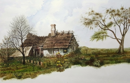 A Ranch | Painting by artist Bhanupratap Khare | watercolor | Paper