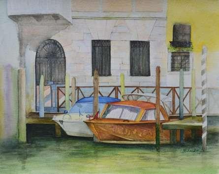 Venetian Hues-I | Painting by artist Niharika Gupta | Watercolor | Paper