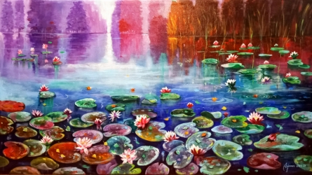 Nature Acrylic-oil Art Painting title Beauty Of Nature by artist Arjun Das