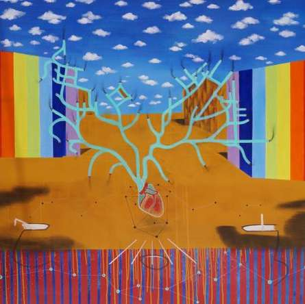 Getting A New Space | Painting by artist Govind Biswas | acrylic | Canvas