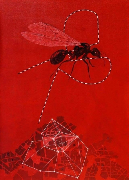 Animals Acrylic Art Painting title 'Untitled Red 2' by artist Govind Biswas