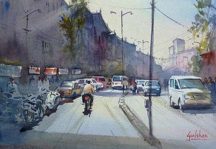 As We Move Things Will Get Clear | Painting by artist Gulshan Achari | watercolor | Paper