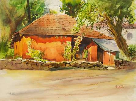 Nature Watercolor Art Painting title 'Bold And Beautiful' by artist Gulshan Achari