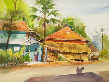 Contrast In Choices | Painting by artist Gulshan Achari | watercolor | Paper