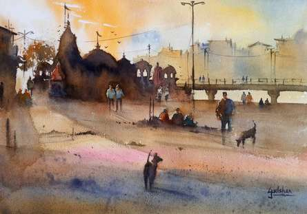 Faith Holds Everything Together | Painting by artist Gulshan Achari | watercolor | Paper