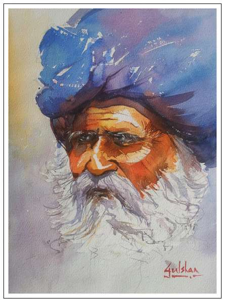 Radiance | Painting by artist Gulshan Achari | watercolor | Paper