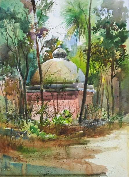 See Through | Painting by artist Gulshan Achari | watercolor | Paper