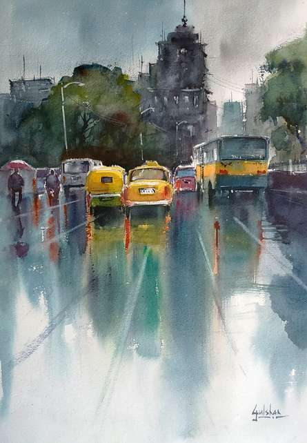 The Yellow Canary | Painting by artist Gulshan Achari | watercolor | Paper