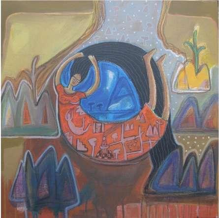 Let Free   Mixed_media by artist Arpita Chandra   Canvas