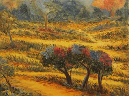 Woods I | Painting by artist Krupa Shah | oil | Canvas