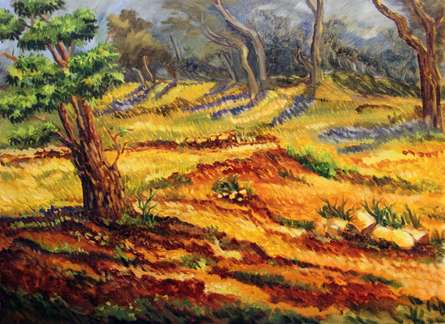Woods II | Painting by artist Krupa Shah | oil | Canvas