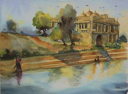 Beauty of Peace | Painting by artist Krupa Shah | watercolor | Paper