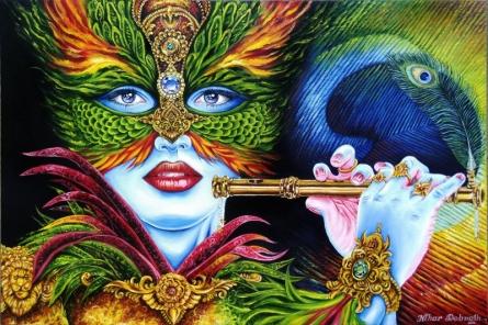 Maskrishna   Painting by artist Nihar Debnath   Oil   Canvas