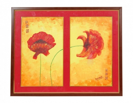 Flowers | Painting by artist Devyani Luharuka | Acrylic | Canvas