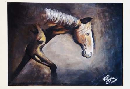 Horse   Painting by artist VINI GAJJAR   Other   Ivory Paper