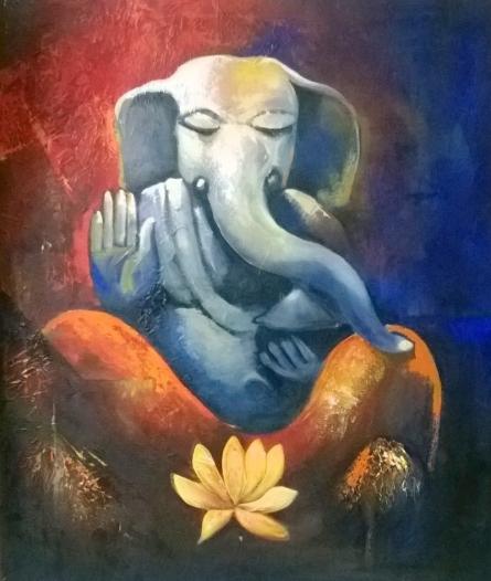Siddhidata   Painting by artist Sharmishtha Sinha   acrylic   Canvas