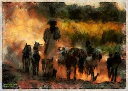 Farmer | Digital_art by artist Pushpendu Dutta | Art print on Canvas