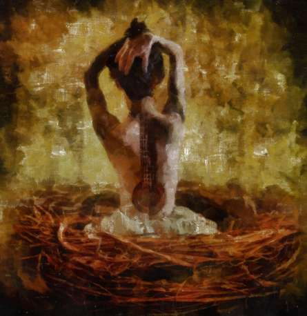 Theguitartattoo | Digital_art by artist Pushpendu Dutta | Art print on Canvas