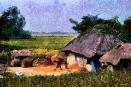 Vill1   Digital_art by artist Pushpendu Dutta   Art print on Canvas