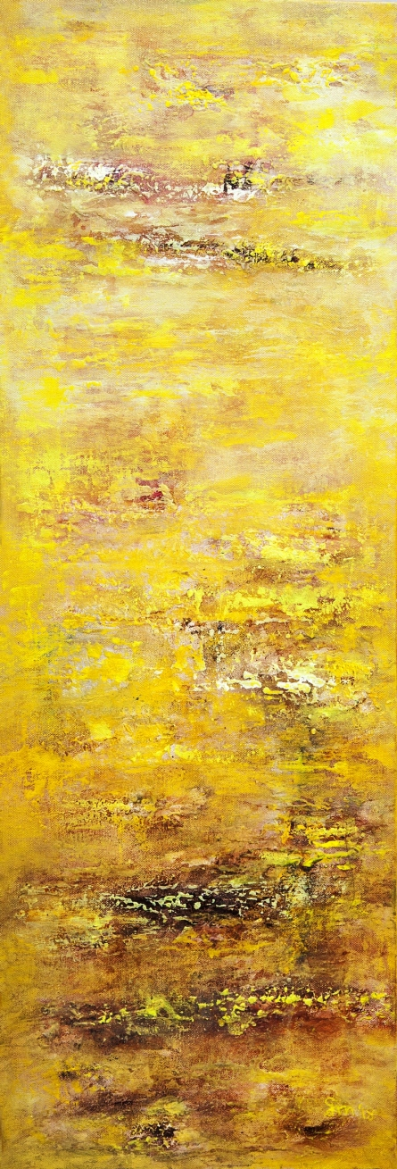 Abstract Acrylic-oil Art Painting title 'Gm006' by artist Goutam Mukherjee