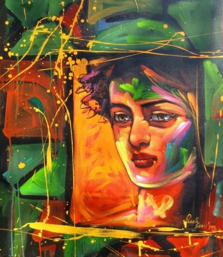 Holi | Painting by artist Prabir Shaw | acrylic | Canvas