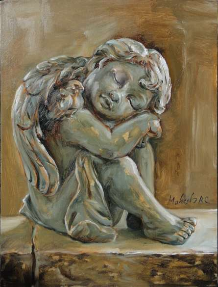 Little Angel Study | Painting by artist Mahesh RC | oil | Canvas Board