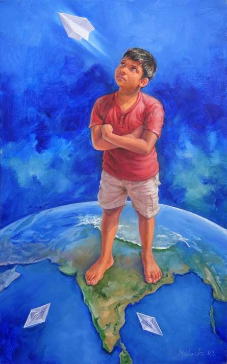 Tomorrow is mine | Painting by artist Mahesh RC | oil | Canvas