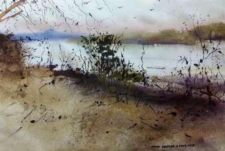 Jim Corbet ( Uttar Pradesh ) | Painting by artist Kiran Gunjkar | Watercolor | Handmade Paper