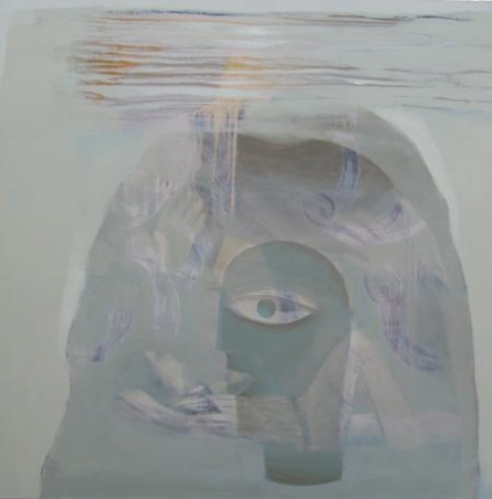 Figurative Acrylic Art Painting title 'Focus' by artist Pradip Kumar Sau